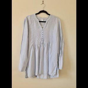 NWOT Garnet Hill Silk Pintuck Tunic
